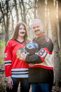 Chicago Sports Mustache Engagement