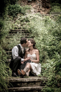 Kuhs Farm Elope Short Wedding Gown