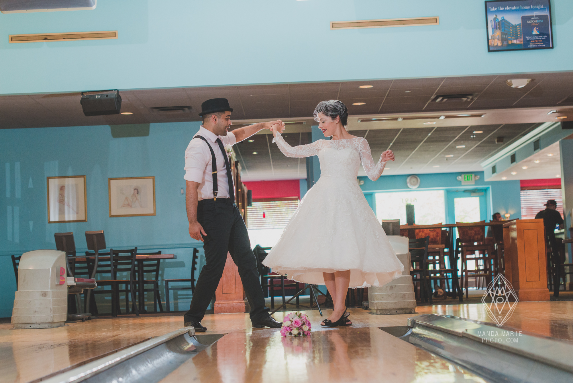 Pin Up Bowl The Loop St. Louis Retro Wedding