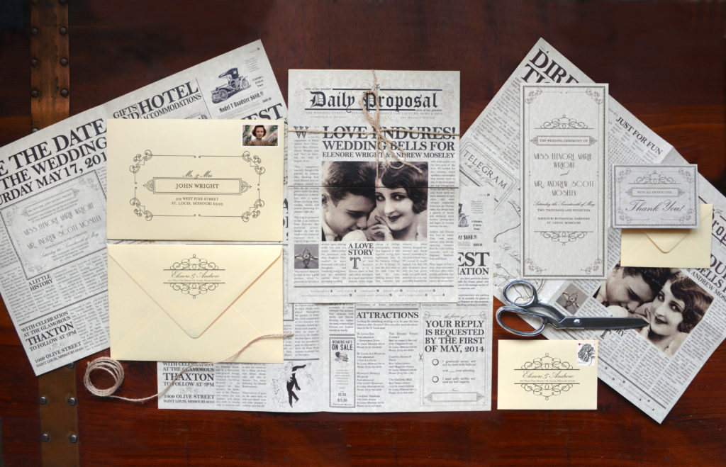 Eccentric Wedding Invitation