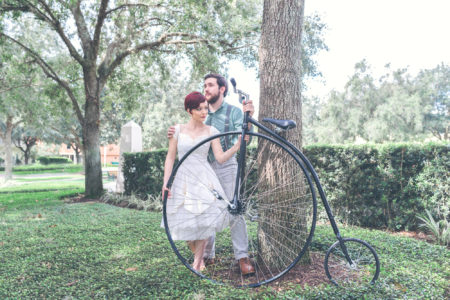 Vintage Bicycle Engagement