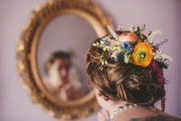 Rainbow Wedding Hair