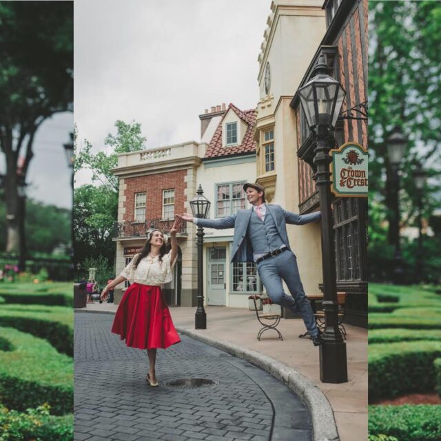 Best Amateur Choreography 😮 I have to hand it to these two for gender swapping a Cinderella motif, for stepping into my Singin in the Rain idea, and for nailing this miniature stage production in just 3 shots. Wow!  🙌🏻  #thedapperdayphotographer #dapperday @dapperday #dapperday2021 #orlandophotographer #disneyphotographer #cinderellabound #disneybound