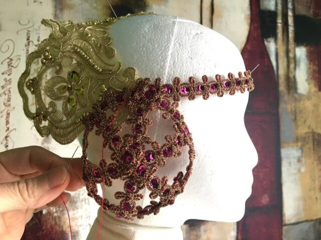Headdress I'm working on for some Medieval/Mucha/Star Wars wear for next Dapper Day. Yes you can merge all your interest areas into something cohesive.   I'll be looking for a model for a pretty Medieval vibe for this once the whole ensemble is together.   #medievalfashion #alphonsemucha #padmeamidala #imágemfashion