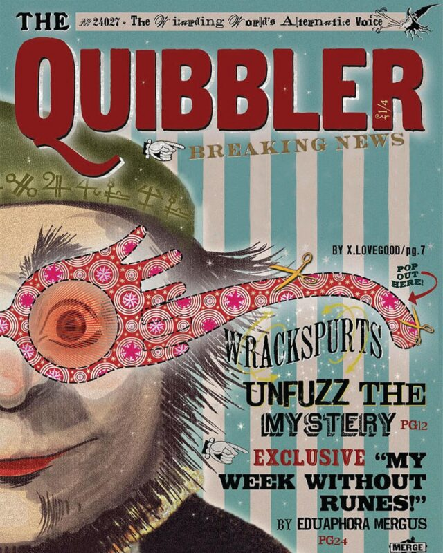 Breaking news! 🗞 Well — add your own breaking news! The Quibbler is now a customizable portrait prop I can add your headline to. It prints as a magazine cover you can take as a keepsake!  What news bring ye?  #imágemmagicportraits #quibbler #spectrespecs #harrypotterphotography #wizardingworldofharrypotter