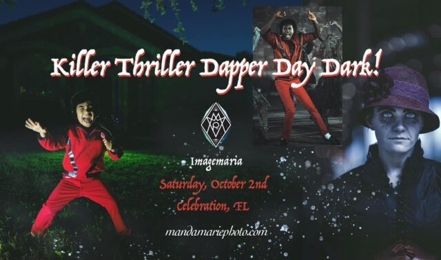 Oct 2nd 🎃 Thriller flash mob, anyone? To kick off Halloween season? ❤️🖤❤️  I'm not looking for dancers actually, just Halloween people as I do for Dapper Day Dark! Drag your limbs on in for something entirely different this year.   Go check out my FB event for an opportunity to add some ghoulish flair to your Halloween look!   Need an arm removed? No problem!  #thedapperdayphotographer #killerthriller #michaeljackson #thriller #halloweenorlando #halloweenportraits #zombies #dapperdaydark #halloweenpeople