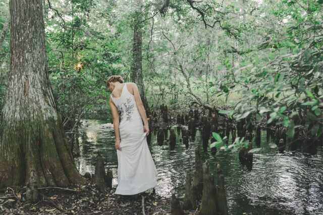 Mucking through the creeks of life to make it to the other side with your Person. 💚 Katie and Garrett are so adventurous together (it was their idea)! 🥾  #imágemweddings #adventurewedding #weddingboots #orlandoweddingphotographer #upacreek #floridaweddingphotographer